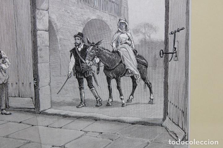 Arte: JAUME PAHISSA Y LAPORTA (1846-1928). XILOGRAFIA. ESCENA CON PERSONAJES - Foto 5 - 251166935