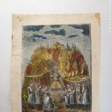 Arte: PEQUEÑA XILOGRAFIA DE LA VIRGEN DE MONTSERRAT S XIX. Lote 251767415