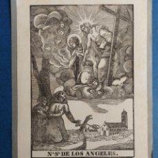 """Arte: """"N. S. DE LOS ANGELES"""" XILOGRAFIA. Lote 254353240"""
