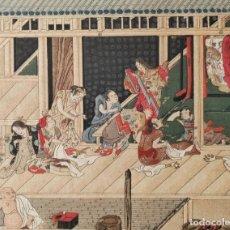 Arte: EXCELENTE GRABADO JAPONÉS DEL MAESTRO TOSA MITSUOKI, BUEN ESTADO, UKIYO-E, XILOGRAFIA. Lote 254420345