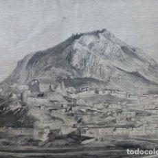 Arte: JAÉN VISTA DE MARTOS Y PEÑA CARVAJALES GRABADO XILOGRÁFICO XILOGRAFÍA 1874. Lote 254513915