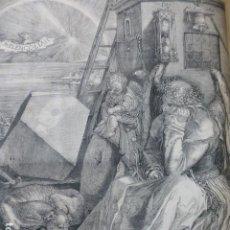 Art: LA MELACOLÍA DE DURERO GRABADO XILOGRÁFICO XILOGRAFÍA 1874. Lote 254519660