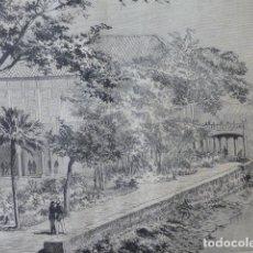 Arte: MANILA FILIPINAS RESIDENCIA DEL CAPITÁN GENERAL GRABADO XILOGRÁFICO XILOGRAFÍA 1874. Lote 254526760