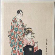 Arte: MAGISTRAL GRABADO JAPONÉS DEL MAESTRO TŌSHŪSAI SHARAKU, PRECIOSOS COLORES, BUEN ESTADO, UKIYO-E. Lote 254599835
