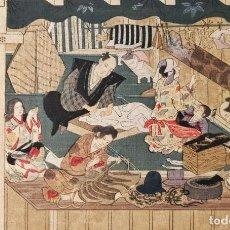 Arte: EXCELENTE GRABADO JAPONÉS ORIGINAL DEL MAESTRO MITSUOKI TOSA, UKIYO-E, XILOGRAFIA, BUEN ESTADO. Lote 254601850