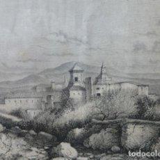 Arte: MONASTERIO DE POBLET TARRAGONA GRABADO XILOGRÁFICO XILOGRAFÍA 1874. Lote 254628565