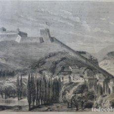Arte: SEO DE URGELL LERIDA CASTILLO OCUPADO GUERRAS CARLISTAS GRABADO XILOGRÁFICO XILOGRAFÍA 1874. Lote 254726790