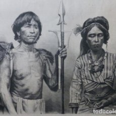 Arte: ISLAS FILIPINAS CALINGAS GRABADO XILOGRAFICO XILOGRAFIA 1874. Lote 254820800