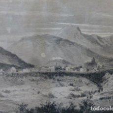 Arte: IRUN GUIPUZCOA VISTA PANORAMICA GRABADO XILOGRAFICO XILOGRAFIA 1874. Lote 254823945