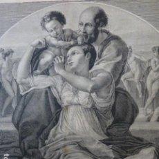 Arte: SAGRADA FAMILIA DE MIGUEL ANGEL GRABADO XILOGRAFICO XILOGRAFIA 1874. Lote 254828200