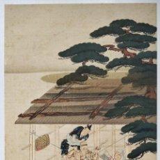 Arte: EXCELENTE GRABADO JAPONÉS DEL MAESTRO TAKAKANE FUJIWARA , UKIYO-E, XILOGRAFIA. Lote 255007455