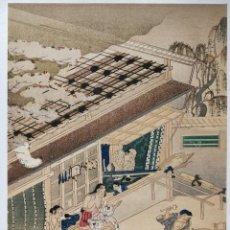 Arte: EXCELENTE GRABADO JAPONÉS DEL MAESTRO TOSA MITSUOKI, UKIYO-E, XILOGRAFIA. Lote 255009870