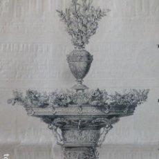 Arte: CENTRO DE MESA DE ORO Y PLATA DE LOS ROTHSCHILD GRABADO XILOGRÁFICO XILOGRAFÍA 1880. Lote 255944930