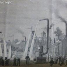 Arte: VALENCIA EXPOSICIÓN DE MAQUINARIA GRABADO XILOGRÁFICO XILOGRAFÍA 1880. Lote 255951330