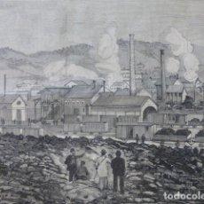 Arte: BARRUELO DE SANTULLÁN PALENCIA MINAS GRABADO XILOGRÁFICO XILOGRAFÍA 1880. Lote 255973940