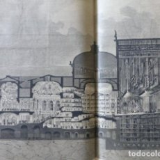 Arte: PARÍS PALAIS GARNIER OPERA VISTA TRASVERSAL GRABADO XILOGRAFICO XILOGRAFIA 1875. Lote 256115815