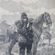 Arte: CORRESPONSAL DE EL IMPARCIAL EN EL EJÉRCITO GUERRAS CARLISTAS GRABADO XILOGRAFICO XILOGRAFIA 1875. Lote 256118330