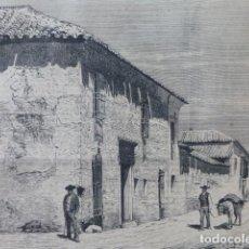Arte: ARGAMASILLA DE ALBA CIUDAD REAL CASA MEDRANO GRABADO XILOGRAFICO XILOGRAFIA 1875. Lote 256118705