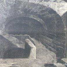 Arte: ARGAMASILLA DE ALBA CIUDAD REAL CELDA DE CERVANTES GRABADO XILOGRAFICO XILOGRAFIA 1875. Lote 256118850