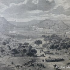 Arte: ALCORA CASTELLÓN EJÉRCITO DEL CENTRO GUERRAS CARLISTAS GRABADO XILOGRAFICO XILOGRAFIA 1875. Lote 256123550
