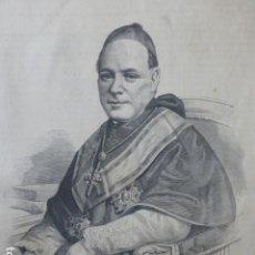 Arte: FRANCISCO DE PAULA BENAVIDES OBISPO DE SIGÜENZA GUADALAJARA GRABADO XILOGRAFICO XILOGRAFIA 1875. Lote 256123880