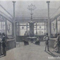 Arte: MADRID ALMACENES DE MUSICA Y PIANOS DE VIDAL E HIJO GRABADO XILOGRAFICO XILOGRAFIA 1875. Lote 256125150