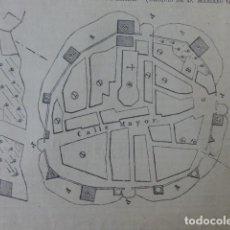 Arte: CARIÑENA ZARAGOZA PLANO GUERRAS CARLISTAS GRABADO XILOGRAFICO XILOGRAFIA 1875. Lote 256125200