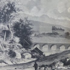 Arte: SAN VICENTE DE LA BARQUERA CANTABRIA VISTA GRABADO XILOGRAFICO XILOGRAFIA 1875. Lote 256125380
