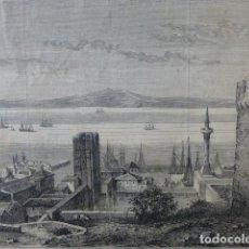Arte: ANDRINOPOLIS TURQUIA VISTA GRABADO XILOGRAFICO XILOGRAFIA 1878. Lote 257337540