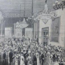 Arte: SEVILLA BAILE DE CORTE EN LOS SALONES DEL PALACIO DE SAN TELMO GRABADO XILOGRAFICO XILOGRAFIA 1878. Lote 257342175