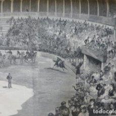 Arte: SEVILLA CARRERAS DE CINTAS GRABADO XILOGRAFICO XILOGRAFIA 1878. Lote 257342690
