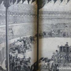 Arte: MADRID CORRIDA DE TOROS CON CABALLEROS GRABADO XILOGRAFICO XILOGRAFIA 1878. Lote 257343685