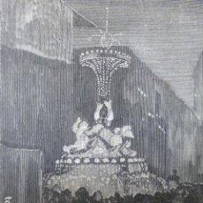 Arte: MADRID FESTEJOS REALES ILUMINACIONES FUENTE DE SAN LUIS GRABADO XILOGRAFICO XILOGRAFIA 1878. Lote 257344205