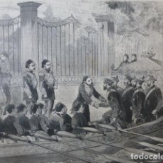 Arte: VISITA DEL GRAN DUQUE DE RUSIA AL SULTAN DE TURQUIA GRABADO XILOGRAFICO XILOGRAFIA 1878. Lote 257348760