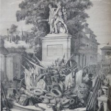 Arte: MADRID EL DOS DE MAYO GRABADO XILOGRAFICO XILOGRAFIA 1878. Lote 257349225