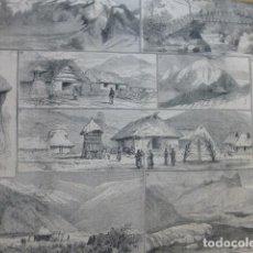 Arte: COLOMBIA EXPLORACIONES EN LA SIERRA NEVADA DE SANTA MARTA GRABADO XILOGRAFICO XILOGRAFIA 1878. Lote 257388440