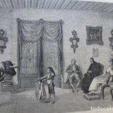 Arte: LA LECCION DE TOREO DE ENRIQUE MÉLIDA GRABADO XILOGRAFICO XILOGRAFIA 1878. Lote 257389440