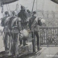 Arte: SAN PETERSBURGO RUSIA DEMOSTRACION POPULAR AL ZAR GRABADO XILOGRAFICO XILOGRAFIA 1878. Lote 257390445