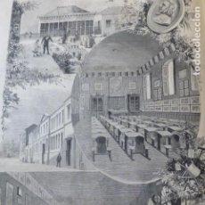 Arte: MADRID NUEVA ESCUELA DE PÁRVULOS CON EL SISTEMA FROEBEL GRABADO XILOGRAFICO XILOGRAFIA 1878. Lote 257391835
