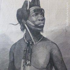 Arte: DANDY ZULÚ GRABADO XILOGRAFICO XILOGRAFIA 1878. Lote 257393340