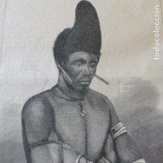 Arte: DANDY ZULÚ GRABADO XILOGRAFICO XILOGRAFIA 1878. Lote 257393385