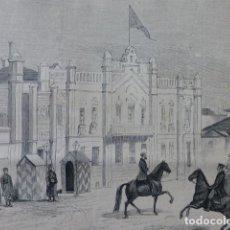 Arte: KISCHINEFF CUARTEL GENERAL DEL GRAN DUQUE NICOLÁS DE RUSIA GRABADO XILOGRAFICO XILOGRAFIA 1877. Lote 257458025