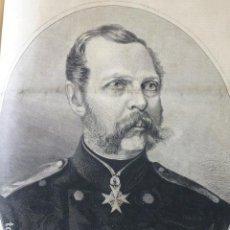 Arte: ALEJANDRO II EMPERADOR DE RUSIA GRABADO XILOGRAFICO XILOGRAFIA 1877. Lote 257459095