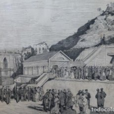 Arte: ALCOY ALICANTE INAUGURACIÓN DE LA FÁBRICA DE GAS GRABADO XILOGRAFICO XILOGRAFIA 1877. Lote 257460685