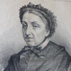 Arte: CECILIA BÖLH DE FABER Y LARREA FERNAN CABALLERO GRABADO XILOGRAFICO XILOGRAFIA 1877. Lote 257461960