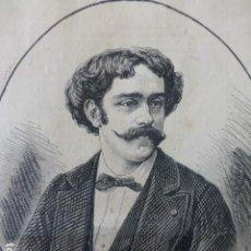 Arte: PABLO SARASATE VIOLINISTA ESPAÑOL GRABADO XILOGRAFICO XILOGRAFIA 1877. Lote 257461970