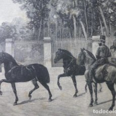 Arte: TILBURIA AL TANDE DE VALDIVIA GRABADO XILOGRAFICO XILOGRAFIA 1877. Lote 257462490
