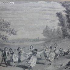 Arte: FIESTA PASTORIL EN EL SIGLO XVII GRABADO XILOGRAFICO XILOGRAFIA 1877. Lote 257463765