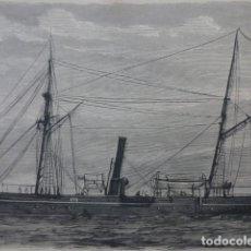 Arte: NUEVO VAPOR FERNANDO EL CATÓLICO GRABADO XILOGRAFICO XILOGRAFIA 1875. Lote 257466840