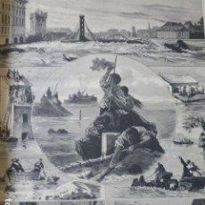 Arte: TOULOUSE FRANCIA INUNDACIONES GRABADO XILOGRAFICO XILOGRAFIA 1875. Lote 257467615